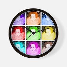 Pop Art Elizabeth I Wall Clock