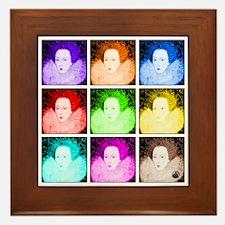 Pop Art Elizabeth I Framed Tile