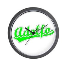 Retro Adolfo (Green) Wall Clock