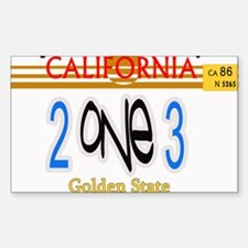 213 LINCENSE PLATE -- T-SHIRT Rectangle Decal