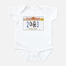 213 LINCENSE PLATE -- T-SHIRT Infant Bodysuit