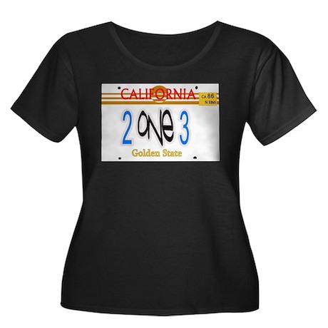 213 LINCENSE PLATE -- T-SHIRT Women's Plus Size Sc