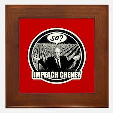 Impeach Cheney Framed Tile