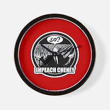 Impeach Cheney Wall Clock