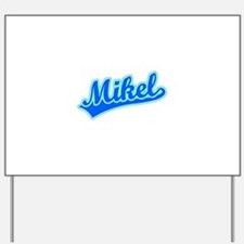 Retro Mikel (Blue) Yard Sign
