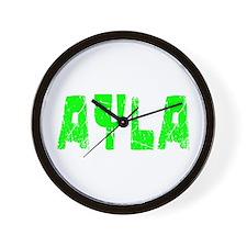 Ayla Faded (Green) Wall Clock