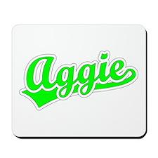 Retro Aggie (Green) Mousepad