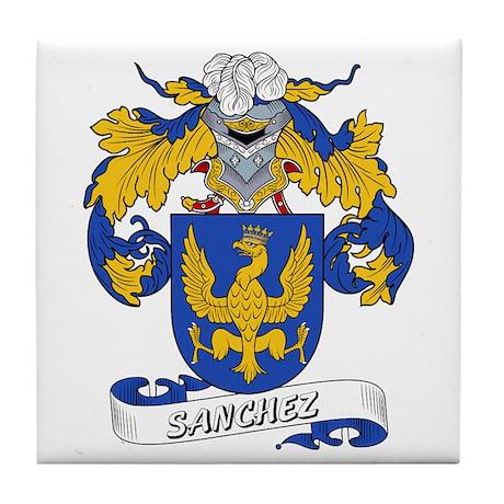 Sanchez Family Crest Tile Coaster