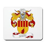 Sanz Family Crest Mousepad