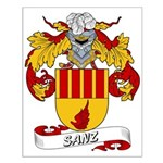 Sanz Family Crest Small Poster