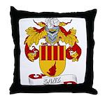 Sanz Family Crest Throw Pillow