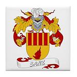 Sanz Family Crest Tile Coaster