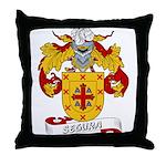 Segura Family Crest Throw Pillow