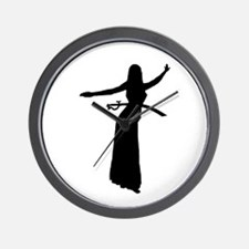 Sword Balance Hip Silhouette Wall Clock