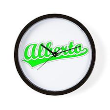 Retro Alberto (Green) Wall Clock