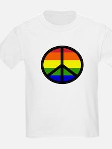 Peace Sign - Gay Rainbow Kids T-Shirt