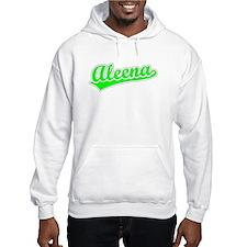 Retro Aleena (Green) Hoodie Sweatshirt
