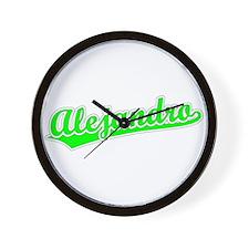 Retro Alejandro (Green) Wall Clock