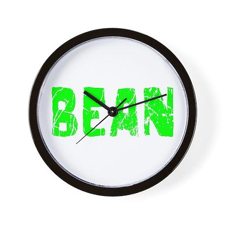 Bean Faded (Green) Wall Clock