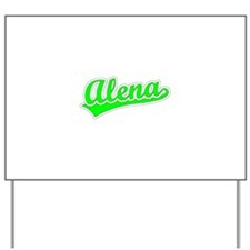Retro Alena (Green) Yard Sign