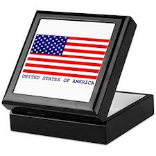 U.S.A. FLAG Keepsake Box
