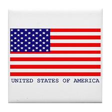 U.S.A. FLAG Tile Coaster