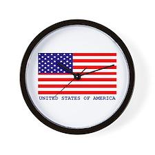 U.S.A. FLAG Wall Clock