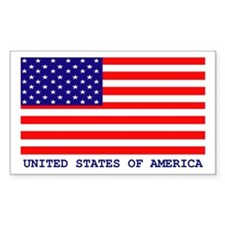 U.S.A. FLAG Rectangle Decal