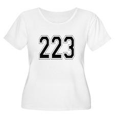223 Womens Plus-Size Scoop Neck T