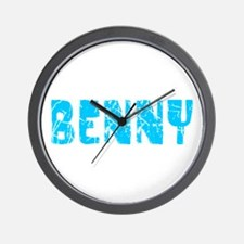 Benny Faded (Blue) Wall Clock