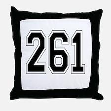261 Throw Pillow