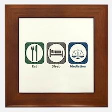 Eat Sleep Mediation Framed Tile
