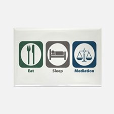 Eat Sleep Mediation Rectangle Magnet (10 pack)