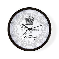 The Princess is Felting Wall Clock