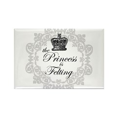 The Princess is Felting Rectangle Magnet (100 pack