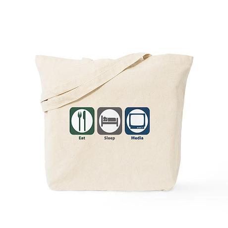 Eat Sleep Media Tote Bag
