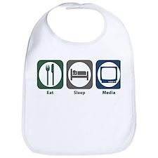 Eat Sleep Media Bib