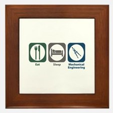 Eat Sleep Mechanical Engineering Framed Tile