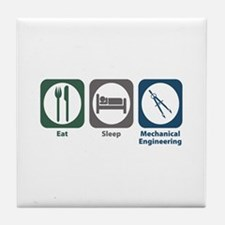 Eat Sleep Mechanical Engineering Tile Coaster