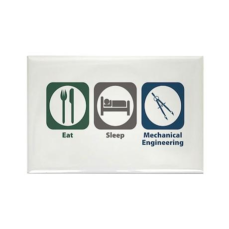 Eat Sleep Mechanical Engineering Rectangle Magnet