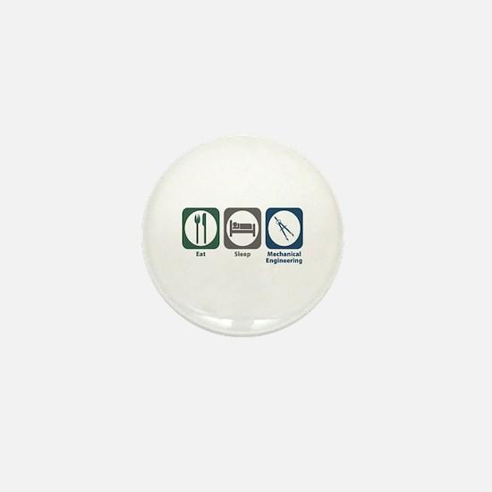 Eat Sleep Mechanical Engineering Mini Button (10 p