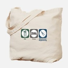 Eat Sleep Mechanical Engineering Tote Bag