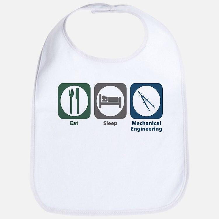 Eat Sleep Mechanical Engineering Bib
