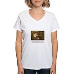 Beauty - the Lacemaker Women's V-Neck T-Shirt