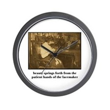 Beauty - the Lacemaker Wall Clock