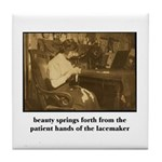 Beauty - the Lacemaker Tile Coaster