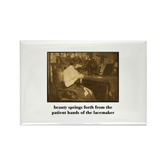 Beauty - the Lacemaker Rectangle Magnet (100 pack)