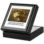 Beauty - the Lacemaker Keepsake Box