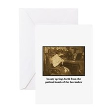 Beauty - the Lacemaker Greeting Card