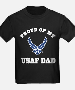 Childs Air Force Dad Pride T-Shirt